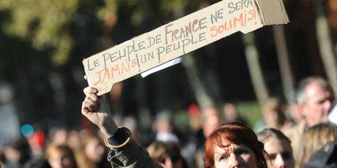 Neuvième manifestation dans les rues de Toulouse contre la réforme des retraites, le 28 octobre.