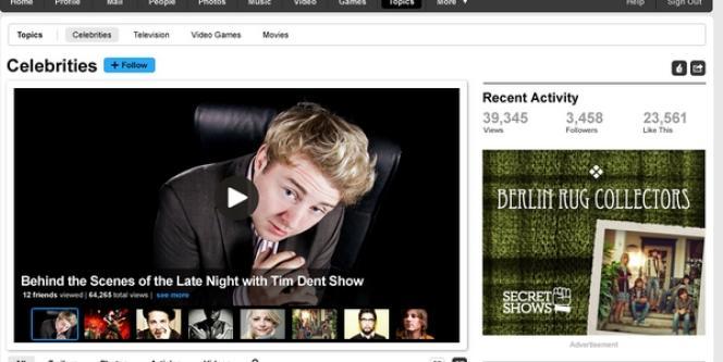 Le nouveau Myspace met l'accent sur les stars, la musique, et le partage de vidéos.