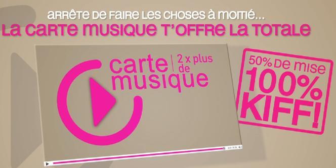 Extrait de la campagne de publicité pour la Carte musique.