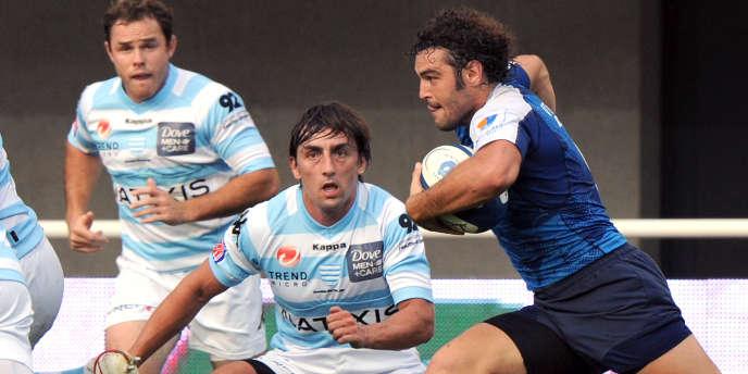 Racing-Montpellier, ici en Top 14, le 20 août.
