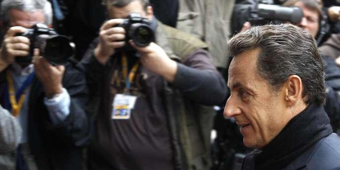 Nicolas Sarkozy, le 29 octobre à Bruxelles.