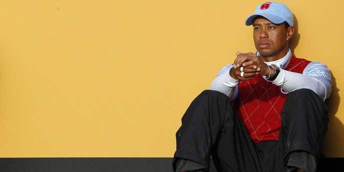 Tiger Woods à Newport le 3 octobre.