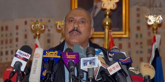 Le président yéménite, Ali Abdallah Saleh, le 30 octobre 2010.