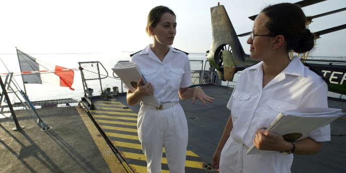 La répartition des femmes au sein des différentes armées présente d'importantes disparités. Elles sont 12 % dans la marine.