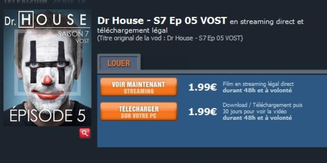 1,99 euro pour un épisode visionnable uniquement 48h : une des possibles raisons expliquant le refus des Français de payer pour télécharger des séries sur Internet