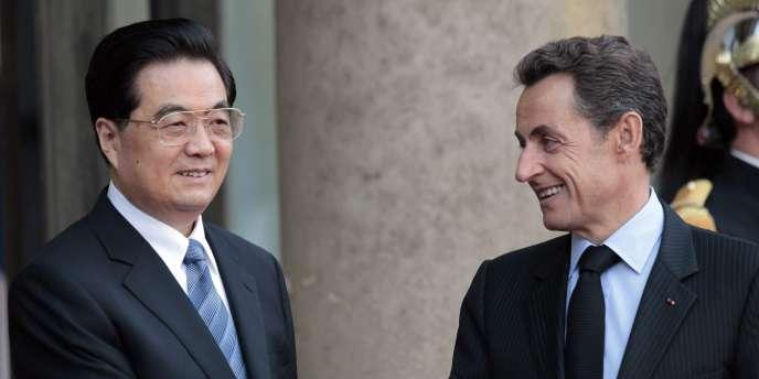 Hu Jintao et Nicolas Sarkozy, le 4 novembre à l'Elysée.