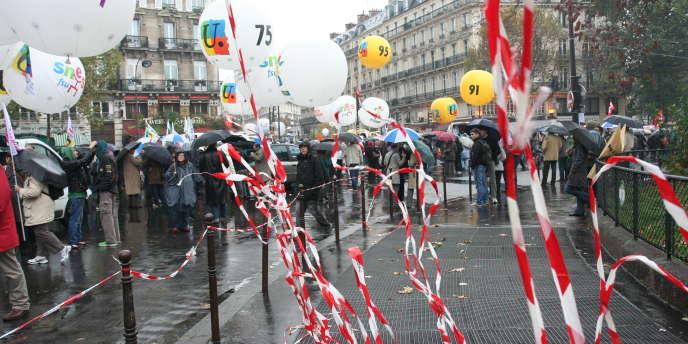Dans la manifestation parisienne, le 6 novembre 2010.