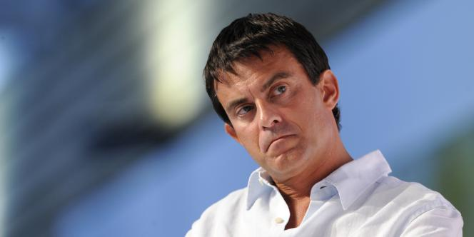 Manuel Valls, le 28 août 2010 à La Rochelle.
