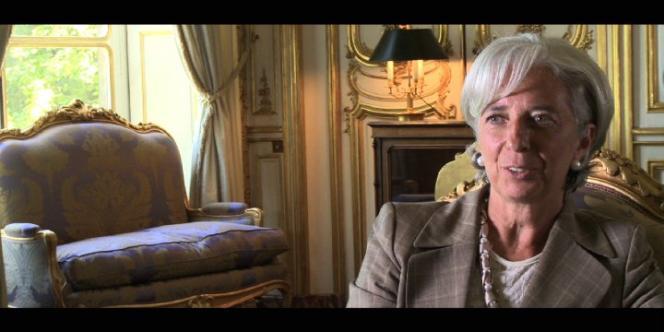 Christine Lagarde, ministre de l'économie et des finances français, dans le film documentaire américain de Charles Ferguson,