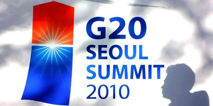 Le logo d'un des sommets du G20 à Séoul en novembre 2010.