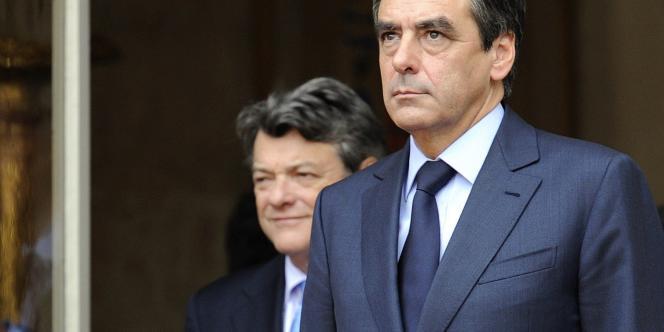François Fillon et Jean-Louis Borloo, le 5 novembre 2010, à Matignon.