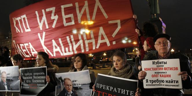Quelque 500 personnes ont manifesté jeudi dans le centre de Moscou pour demander que