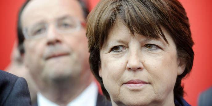 Martine Aubry, le 12 mai 2009 au siège du PS, à Paris.