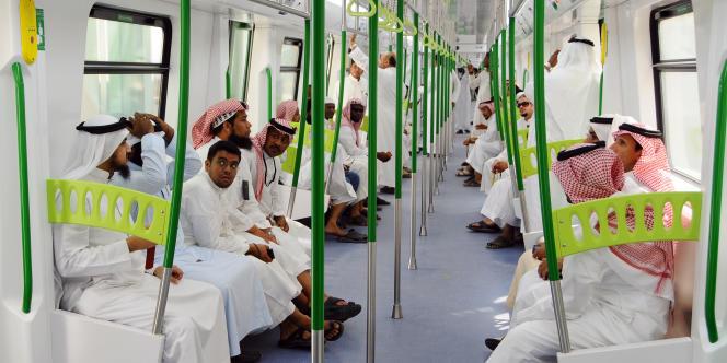 Voyage d'essai du nouveau métro de la Mecque, qui sera inauguré dimanche.