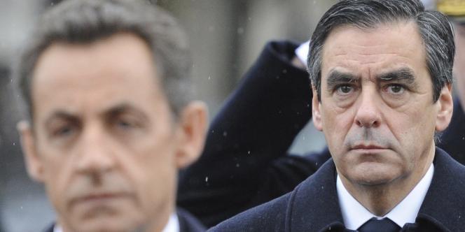 François Fillon et Nicolas Sarkozy le 16 novembre 2010.