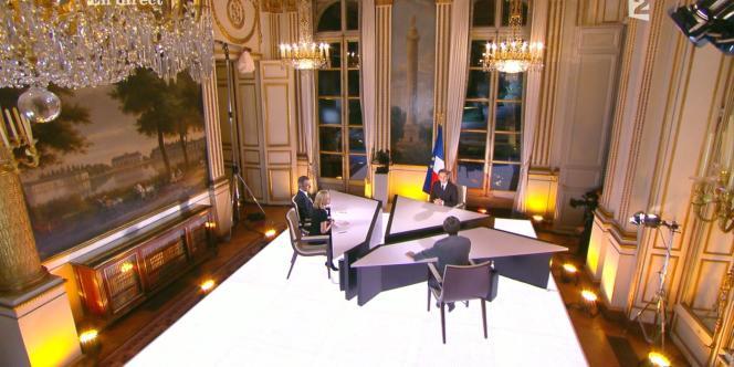 Lors d'une précédente interview à l'Elysée, en novembre 2010.