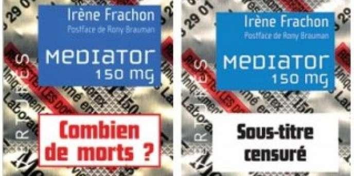 Les deux couvertures du livre d'Irène Frachon.