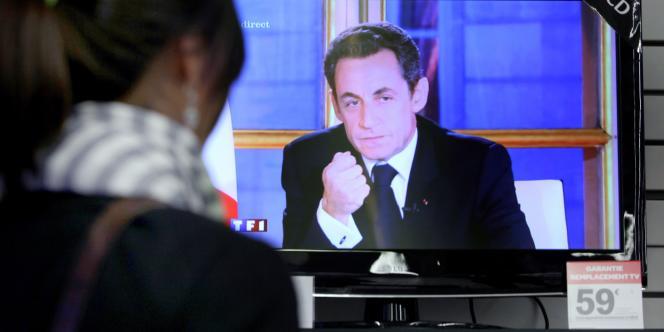 Nicolas Sarkozy lors de son intervention télévisée du 16 novembre.