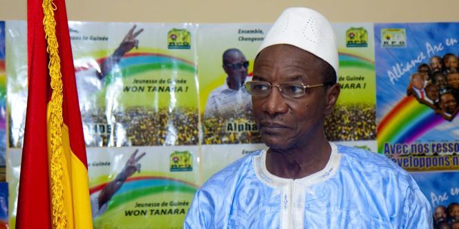 Le président guinéen Alpha Condé à son domicile à Conakry, en novembre 2010.