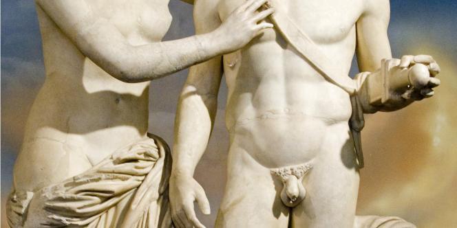 Les statues de Mars et Vénus sculptées au IIe siècle après Jésus-Christ, que Silvio Berlusconi a faites restaurer.