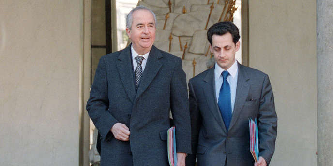 Edouard Balladur et Nicolas Sarkozy, le 22 février 1995
