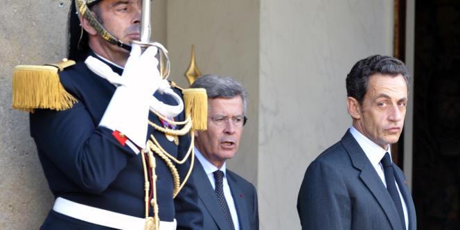 Le président Nicolas Sarkozy et son conseiller diplomatique, Jean-David Levitte, le 10 septembre 2010.