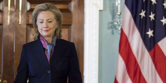 La secrétaire d'Etat américaine, Hillary Clinton, le 29 novembre, au lendemain de la publication de documents secrets de la diplomatie américaine.