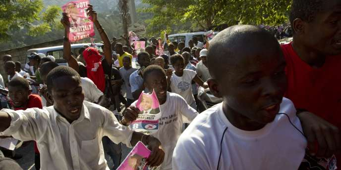Manifestations de partisans de Michel Martelly, le 28 novembre 2010.