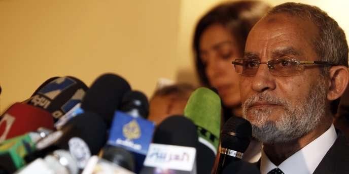 Le chef de file des Frères musulmans, Mohammed Badie.
