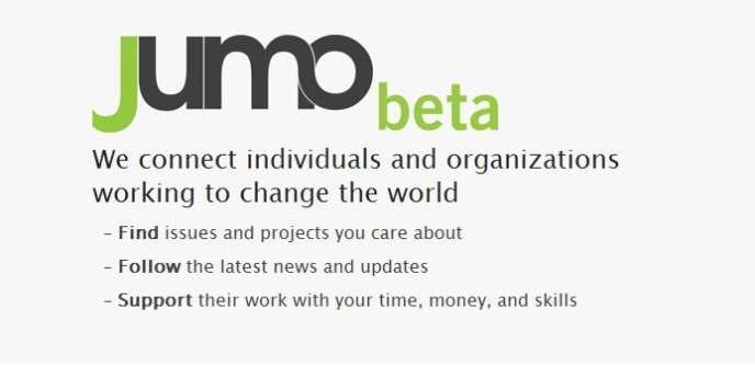 Le réseau social caritatif Jumo s'est lancé en version beta le 30 novembre.