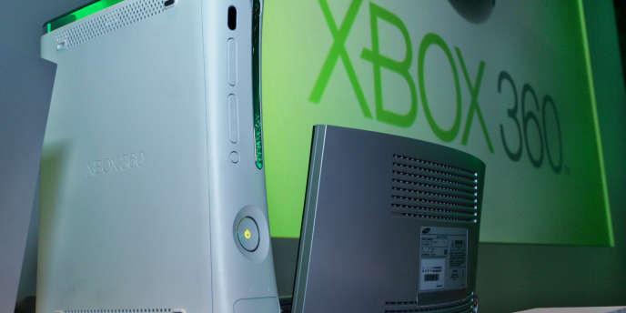 Une console de jeu XBox 360.