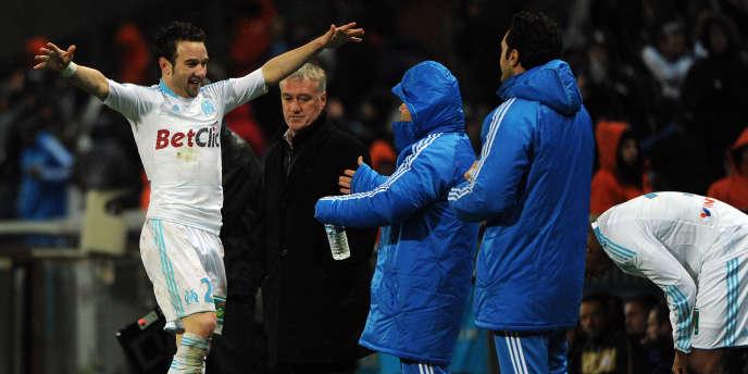 Mathieu Valbuena et les Phocéens ont battu Montpellier 4 à 0 le 27 novembre.