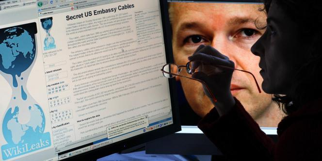 La page d'accueil du site WikiLeaks.