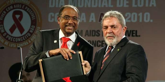 Le président brésilien a été récompensé pour la mise en place d'un plan d'aide médicale gratuite qui a bénéficié à 200 000 malades dans le pays.