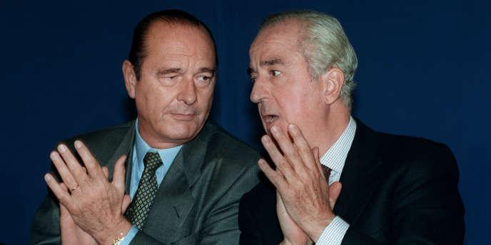 Jacques Chirac et Edouard Balladur, le 26 septembre 1993 à La Rochelle.