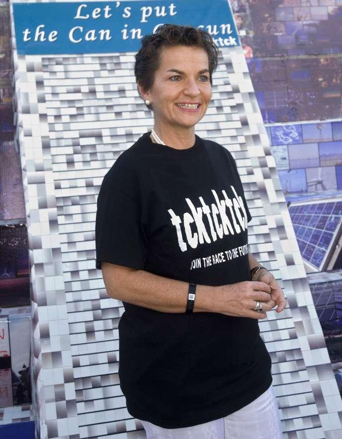 Christiana Figueres, la nouvelle secrétaire de la Convention des Nations unies sur le changement climatique, le 28 novembre, à la veille de l'ouverture de la Conférence de Cancun, au Mexique.