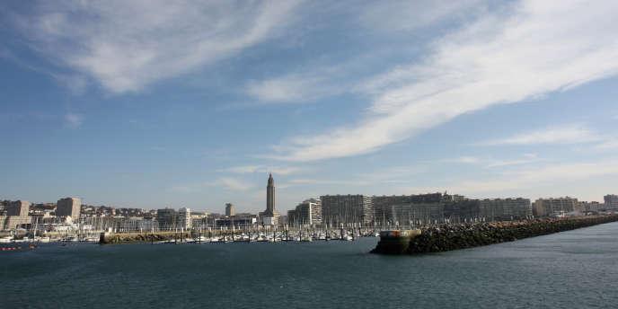 Vue du port du Havre en 2010.