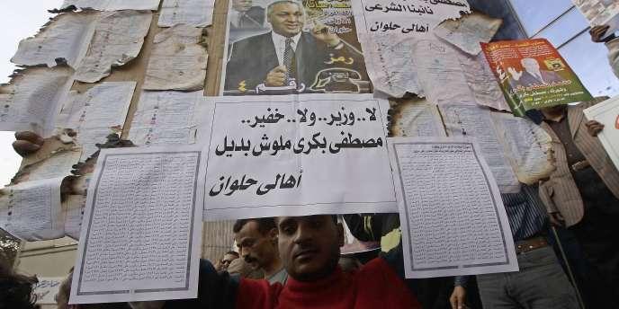 Manifestation contre les fraudes électorales au Caire, le 4 décembre.