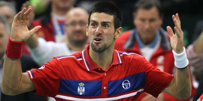 Novak Djokovic lors de la finale de la Coupe Davis, le 5 décembre 2010 à Belgrade.