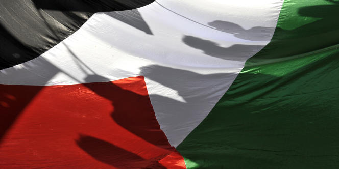 Un drapeau palestinien en janvier 2009.