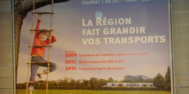 Campagne de communication de la région Ile-de-France.
