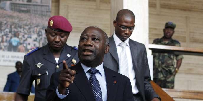 L'ex-président ivoirien Laurent Gbagbo, en décembre 2010.