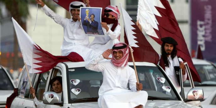 Le Qatar a obtenu l'organisation de la Coupe du monde de football 2022.