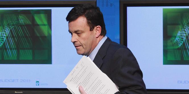 Le ministre des finances irlandais, Brian Lenihan, à Dublin, le 7 décembre.