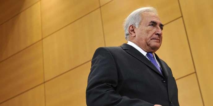 Dominique Strauss-Kahn à Genève, le 8 décembre 2010.