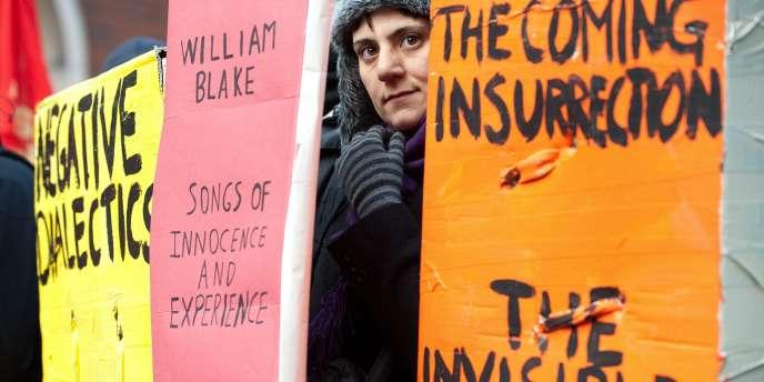 Manifestation étudiante à Londres, jeudi 9 décembre.