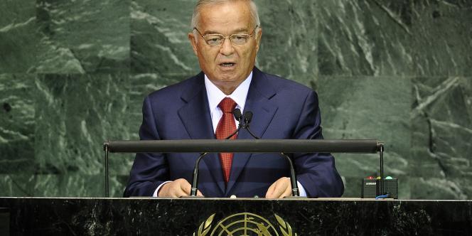Le président ouzbek, Islam Karimov, le 20 septembre 2010 à New York.