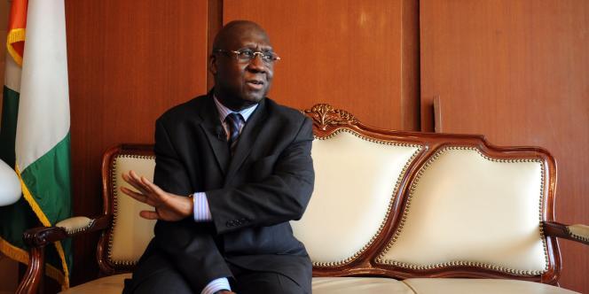 Le ministre des affaires étrangères du gouvernement de Laurent Gbagbo, Alcide Djédjé.