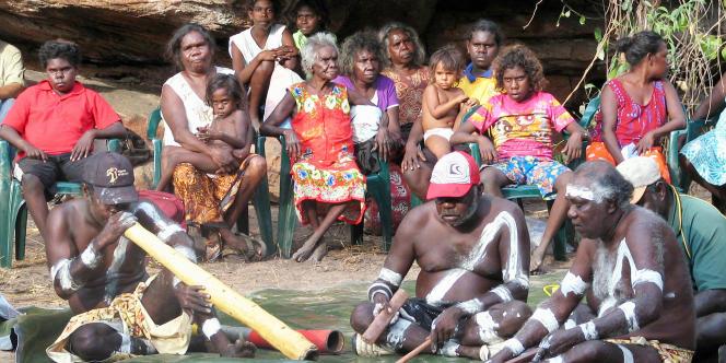Des Aborigènes australiens en septembre 2009.
