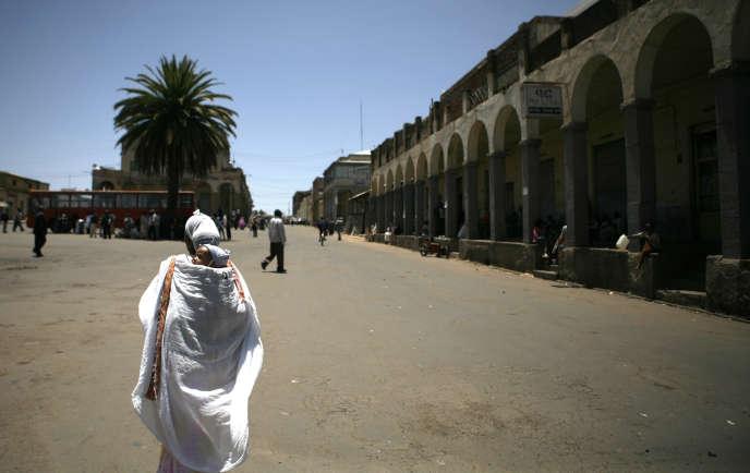 Dans une rue d'Asmara, la capitale de l'Erythrée, le 11mai2008.